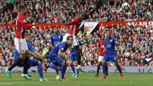 "Britain Football Soccer - Manchester United v Leicester City - Premier League - Old Trafford - 24/9/16 Manchester United's Paul Pogba scores their fourth goal  Action Images via Reuters / Carl Recine Livepic EDITORIAL USE ONLY. No use with unauthorized audio, video, data, fixture lists, club/league logos or ""live"" services. Online in-match use limited to 45 images, no video emulation. No use in betting, games or single club/league/player publications. Please contact your account representative for further details."